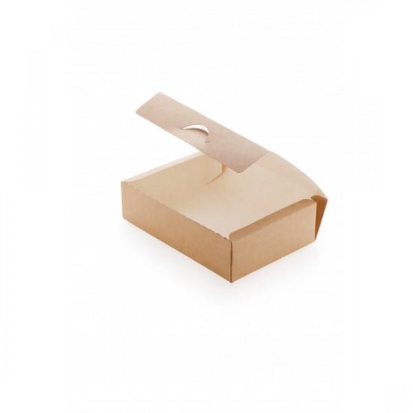 Крафтовая коробка для еды на вынос, 1900 мл, 215*165*55 мм (50 шт/уп)