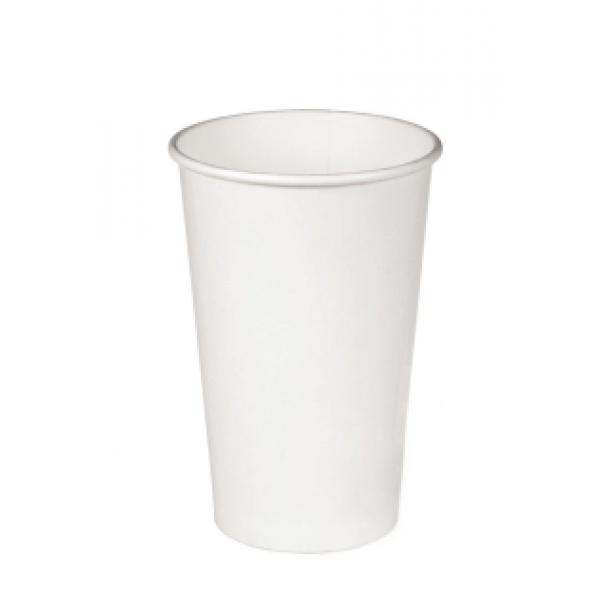 Бумажный стакан для горячих напитков, белый, 250 мл (50 шт/уп)