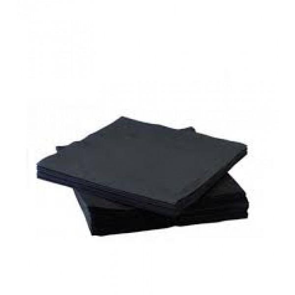 Салфетка 2-х слойная 33х33 см черная (50шт/уп)