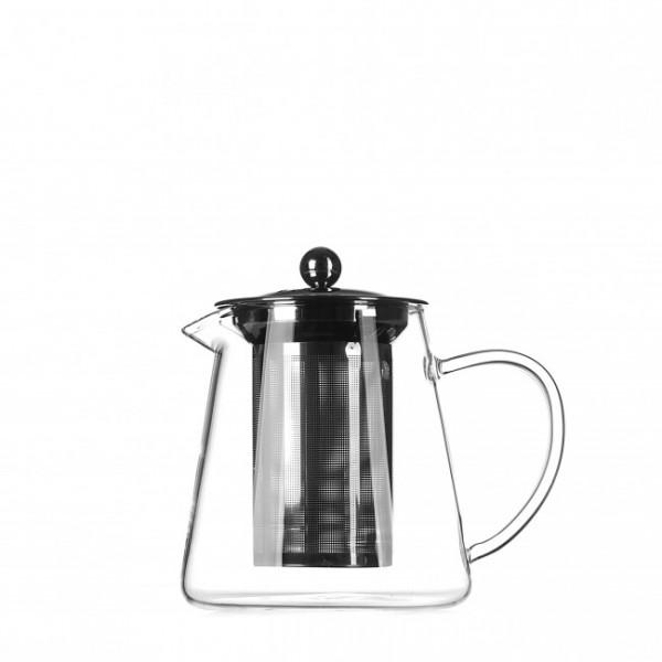 Стеклянный чайник с металлическим ситом, 650 мл