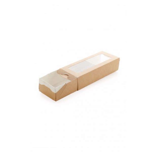 Крафтовая коробка-пенал, 500 мл, 170*70*40 мм (50 шт/уп)
