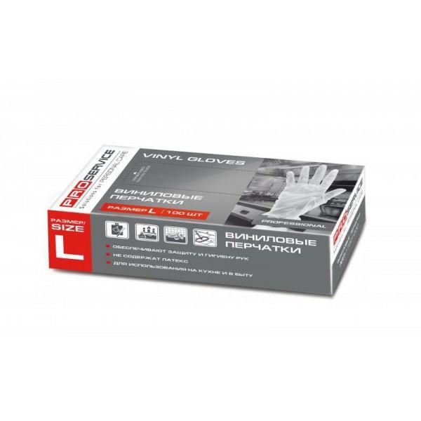 Перчатки виниловые Professional размер L (100 шт/уп)