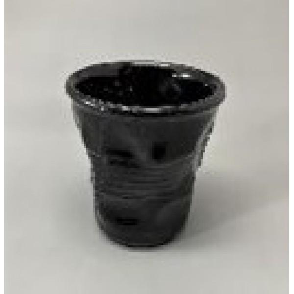 Стакан мятый, керамика, 210 мл, черный