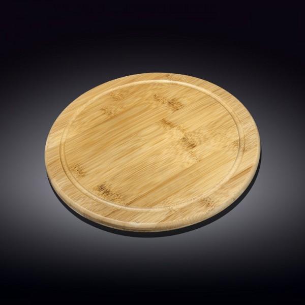Доска для подачи с желобом Wilmax бамбук 33 см