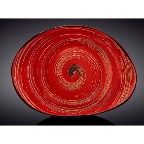 Блюдо камень Wilmax SPIRAL RED 33х24,5
