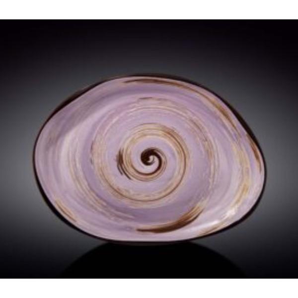 Блюдо камень Wilmax SPIRAL LAVENDER 33х24,5