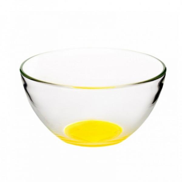 Салатник гладкий с желтым дном 110 мм