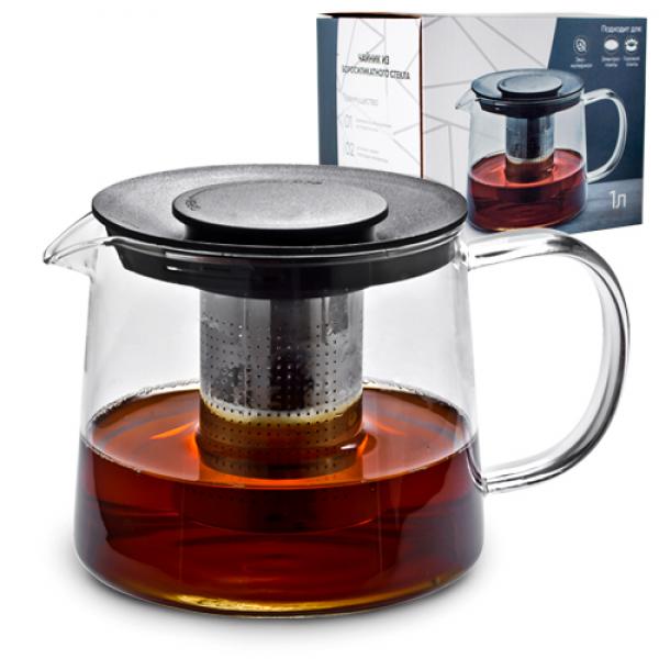 Заварочный чайник с боросиликатного стекла 1 литр