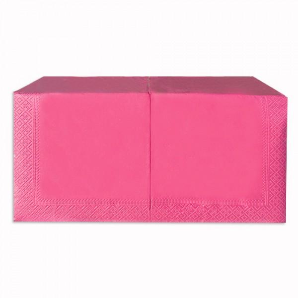 Салфетка 2-х слойная 33х33 см розовая (200шт/уп)