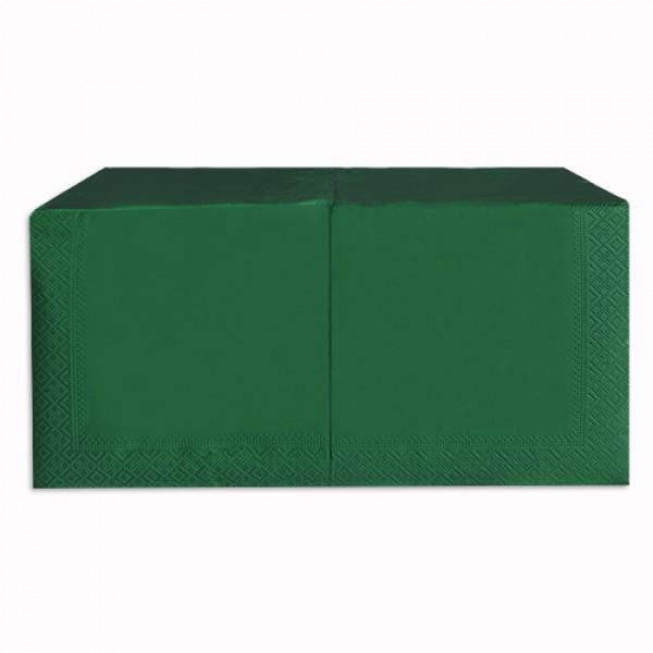 Салфетка 2-х слойная 33х33 см зеленая (250шт/уп)