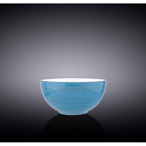 Салатник Wilmax SPIRAL BLUE d14см/V600мл