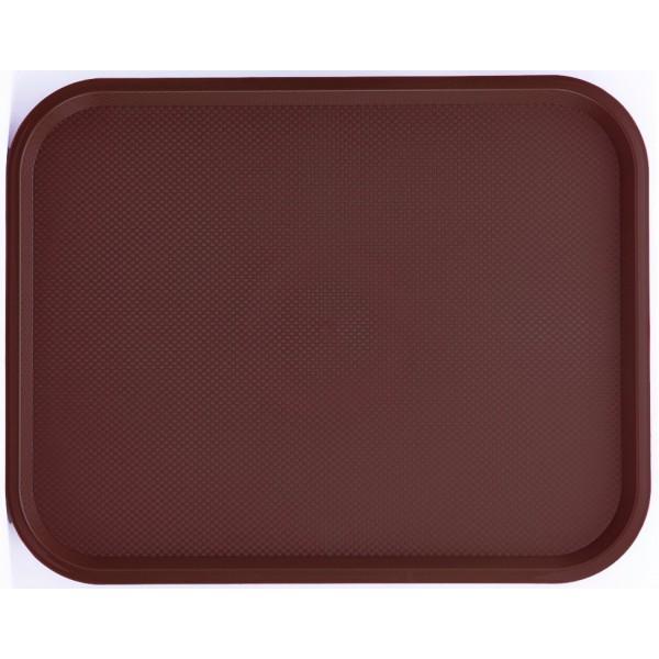 Поднос пластиковый 45,6х35,6 см коричневый