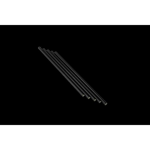 Трубочка бумажная черная 250 шт/уп (d - 6 мм)