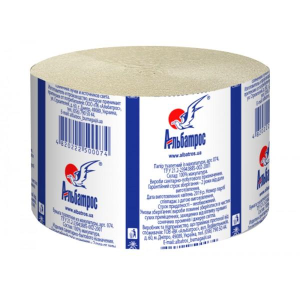 Туалетная бумага макулатурная Альбатрос Джамбо
