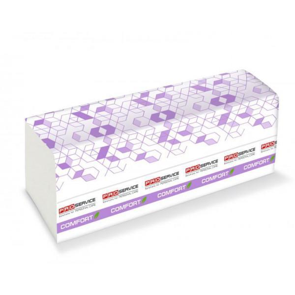 PROservice Comfort eco Бумажное полотенце Z-скл. Двухслойное 200 шт. Белые.