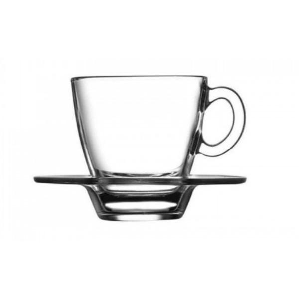 Чашка с блюдцем для кофе 72 мл Pasabahce Aqua (95756)
