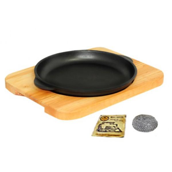 Сковорода чугунная с подставкой, 18*2,5 см