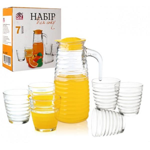 Набор для напитков (графин - 820 мл, 6 стаканов по 230 мл)